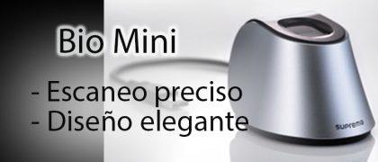 Lector de huella dactilar Bio Mini | Control de acceso y asistencia