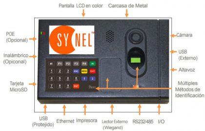Lector biométrico de huella Pantalla LCD a color | Control de Acceso y Asistencia