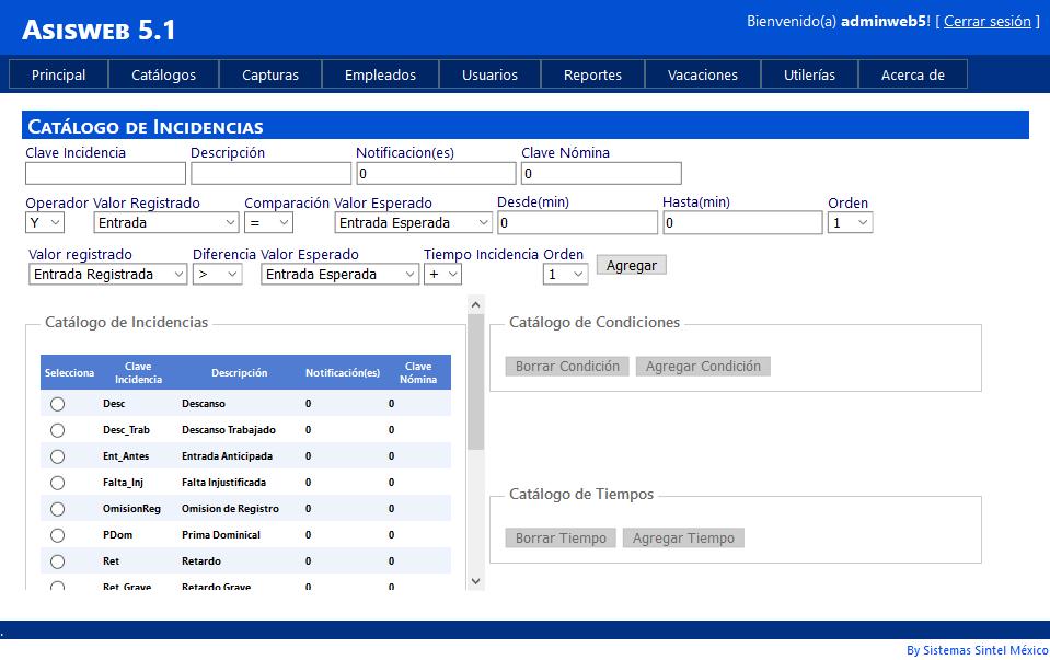 Control de asistencia de personal y reloj checador | Asistel Web