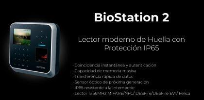 Lector biométrico moderno con Protección IP65 Bio Station 2 | Sistemas Sintel