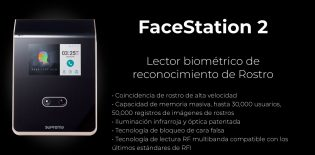 Lector biométrico de reconocimiento de Rostro FaceStation 2 | Sistemas Sintel