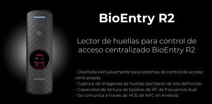 Lector de huellas para control de acceso centralizado Suprema BioEntry R2 | Sistemas Sintel