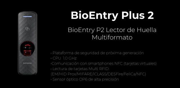 Lector Biométrico multiplataforma BioEntry P2 | Sistemas Sintel