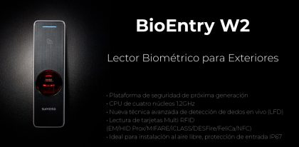 Lector Biométrico para Exteriores BioEntry W2 | Sistemas Sintel