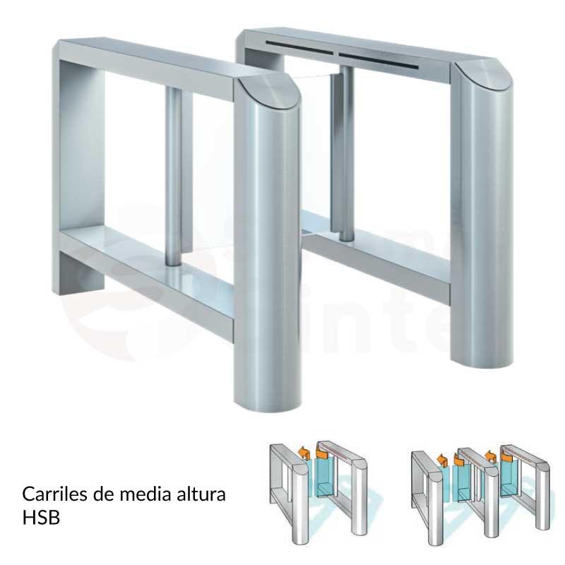 Pasillos o carriles de media altura para acceso Dormakaba HSB E10 | Sintel control de acceso