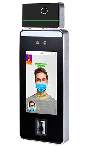 Terminal paraControl de acceso reconocimiento facial cubre bocas y temperatura | Sistemas Sintel