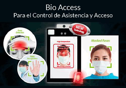 Control de asistencia y acceso para pymes con temperatura | Sintel
