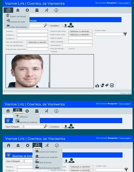 Software para Registro de visitantes | Sintel